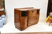Art Deco Drinks Cabinet Walnut Vintage 1930s (9 of 16)