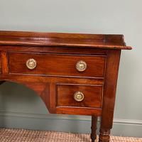 Elegant Victorian Mahogany Antique Writing Table (4 of 5)