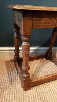 Matching Pair of Antique Oak Joint Stools (2 of 7)