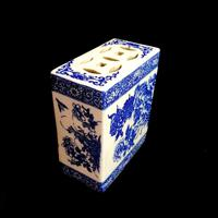 Antique Qing Dynasty Chinese Blue & White Opium Pillow (2 of 7)