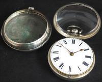 Antique Silver Pair Case Pocket Watch Fusee Verge Escapement Key Wind Enamel Dial Richardson London (3 of 13)