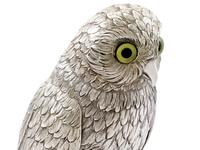 German Sterling Silver Table Owl - Antique c.1910 (6 of 12)