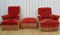 Antique French Armchair & Matching Stool (13 of 13)