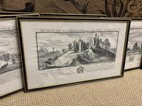 Set of 9 Framed Prints of Historic Castles & Abbeys (4 of 10)