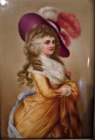 Framed Porcelain Plaque of The Duchess of Devonshire (2 of 4)