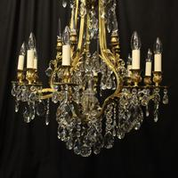 French Gilded Bronze & Crystal Antique Chandelier (2 of 10)