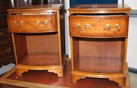 1960s Pair Yew Wood Bedsides Cabinets (2 of 4)