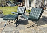Pair of Barcelona Chairs & Ottoman (15 of 30)