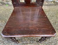 Antique Gothic Oak Hall Chair (11 of 13)