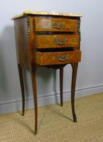 Pair of Antique French Bedside Cabinets Marble Top (5 of 6)
