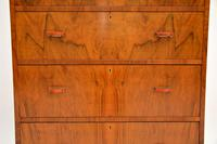 Art Deco Figured Walnut Chest of Drawers (7 of 12)