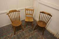 Collection of 3 Stripped Beech & Elm Country Windsor Chairs (5 of 12)