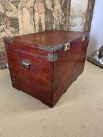 19th C Brass Bound Campaign Style Chest (2 of 8)