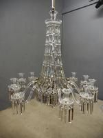 19th Century Crystal Tent & Waterfall Chandelier (2 of 18)