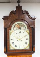 19th Century English Longcase Clock in Mahogany Painted Moon Roller Dial 8-Day Signed Martin Clayton (3 of 5)