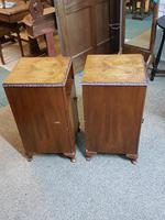 Pair of Walnut Bedside Tables (4 of 5)