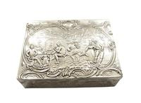 Antique Sterling Silver Trinket Box with Tavern & Fishing Scenes 1909 (5 of 11)