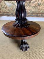English Regency Rosewood Tilt Top Centre Table (4 of 7)