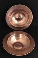 Pair of Planished Copper & Silvered Dishes by Hugh Wallis (3 of 5)
