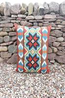 Swedish 'Folk Art' Vintage Large Woven Röllakan Cushion c.1930 (21 of 26)
