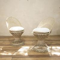 Pair of Mid 20th Century Russell Woodard Wicker Effect Side Chairs - Patio (2 of 11)
