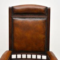 Antique Victorian Leather Rocking Chair (4 of 9)
