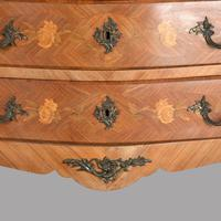 19th Century French Fruitwood Parquetry Inlay Commode (4 of 4)
