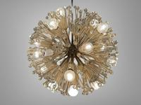 Vintage Mid Century Chandelier Sputnik Emil Stejnar Dandelion Style 16 Lights (2 of 7)