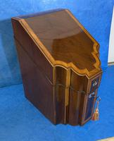 18th Century Mahogany Inlaid Stationary Box (3 of 13)