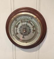 Edwardian Oak Aneroid Barometer c.1901 (7 of 8)