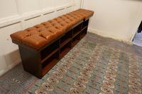 Long Mahogany Chesterfield Hall Seat Shoe Tidy (5 of 8)