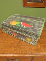 Shabby Chic Folk Art Painted Writing Slope Box with Fruit, Recipe Storage (14 of 14)