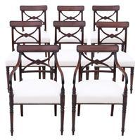 Georgian Quality Set of 8 Mahogany Dining Chairs c.1800