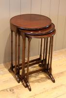 Circular Mahogany Nest of Three Tables (2 of 9)