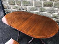 Antique Mahogany Twin Pillar Extending Dining Table (3 of 11)