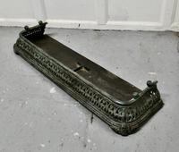 Victorian Pierced Verdigris Cast Iron Fender (4 of 5)