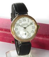 Gents 9ct Gold Colonial Wrist Watch, John Elkan (2 of 7)