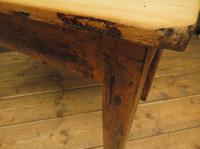 Small Antique Pine Scrub Top Kitchen Table, Top Stripped Ready for Use (10 of 16)