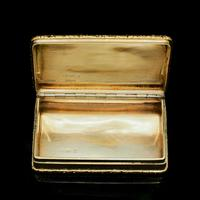 Georgian Solid Silver Gilt Snuff Box With Spectacular Fox Hunting Scene - Edward Smith 1832 (11 of 22)