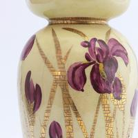 Linthorpe Pottery Vase Decorated with Irises by Clara Pringle c.1885 (9 of 9)