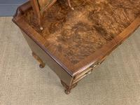 Burr Walnut Bow Fronted Dressing Table (10 of 19)