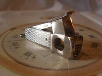 Vintage Pocket Watch Chain Fob 1950s Silver Chrome German Cigar Cutter Fob (2 of 10)