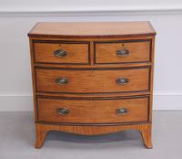 18th Century Satinwood Bow Fronted Chest of Drawers (5 of 12)