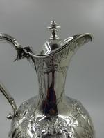 Fine Antique Victorian Silver Wine Jug. Birmingham 1859. (6 of 10)