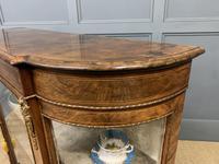 Victorian Burr Walnut Glazed Side Cabinet (14 of 15)
