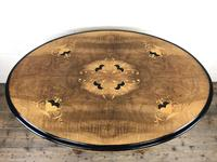 Victorian Walnut & Mixed Woods Inlaid Centre Table (4 of 11)