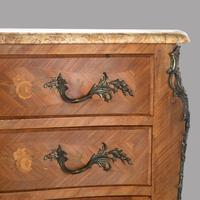 19th Century French Fruitwood Parquetry Inlay Commode (3 of 4)