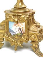 Vintage Sevres Mantel Clock Garniture 8 Day Striking Ormolu Mantel Clock (9 of 14)