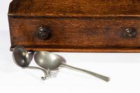 George III Period Oak & Pewter Spoon Rack (6 of 8)