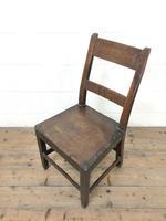 Four Similar 19th Century Welsh Oak Bar Back Farmhouse Chairs (4 of 9)